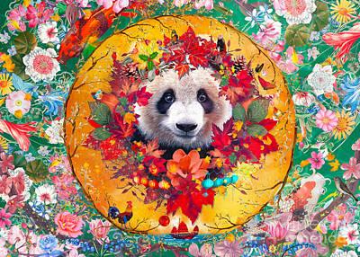 Digital Art - Mother Nature Panda by MGL Meiklejohn Graphics Licensing