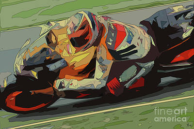 Royalty-Free and Rights-Managed Images - Moto GP Abstract Artwork by Drawspots Illustrations