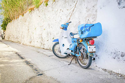 Curated Travel Chargers - Motobike in Santorini by Beautiful Things
