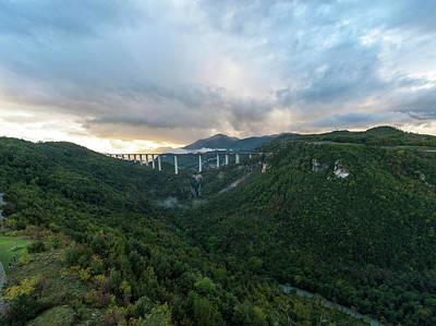 Photograph - Lao valley and Viaduct Italia in Calabria by Flavio Massari