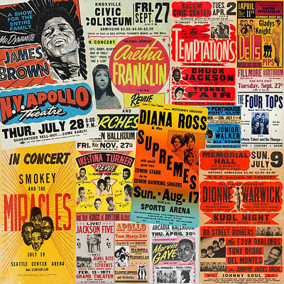 Recently Sold - Fantasy Royalty-Free and Rights-Managed Images - Motown Concert Posters by Andrew Fare