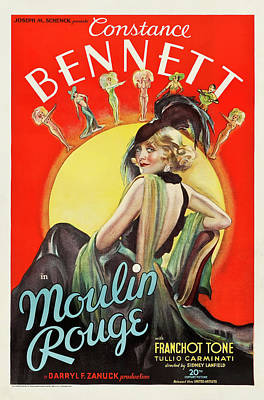 Typography Tees - Moulin Rouge, with Constance Bennett, 1934 by Stars on Art