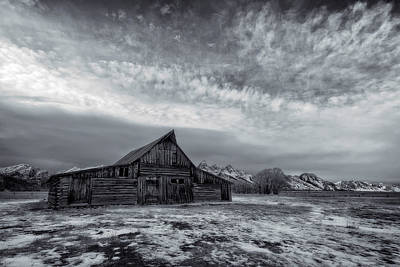 Watercolor Butterflies - Moulton barn infrared by Murray Rudd