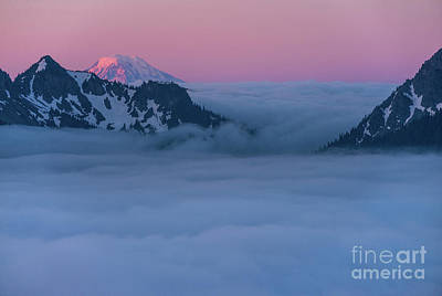 Art History Meets Fashion Rights Managed Images - Mount Adams Alpenglow Royalty-Free Image by Mike Reid