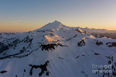 Rusty Trucks - Mount Baker and Table Mountain at Dusk by Mike Reid