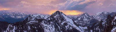 Royalty-Free and Rights-Managed Images - Mount Bierstadt Sunset by Darren White
