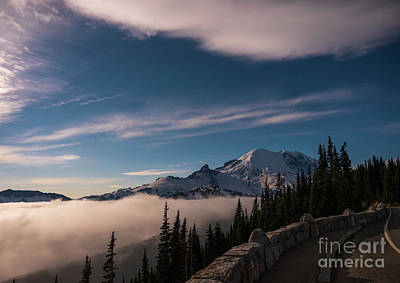 Crazy Cartoon Creatures - Mount Rainier By Moonlight by Mike Reid
