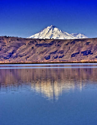 Clouds Royalty Free Images - Mount Shasta from Tule Lake Royalty-Free Image by Joyce Dickens