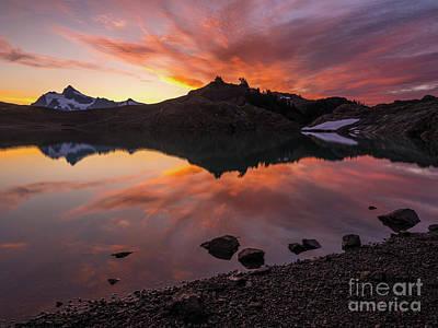 Tool Paintings - Mount Shuksan Lake Cloudscape Sunrise by Mike Reid