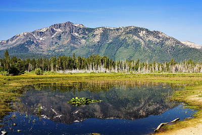 Modern Man Surf - Mount Tallac Reflection by James Marvin Phelps