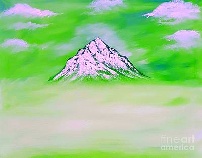 When Life Gives You Lemons - Mountain beauty green glow  by Angela Whitehouse