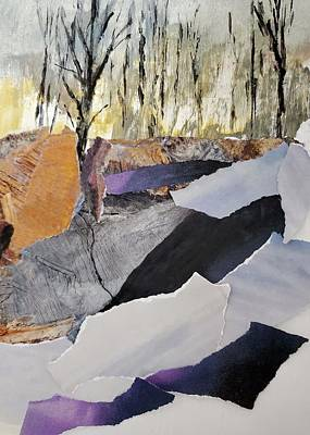 Mixed Media Royalty Free Images - Mountain Boulders Royalty-Free Image by Sharon Williams Eng
