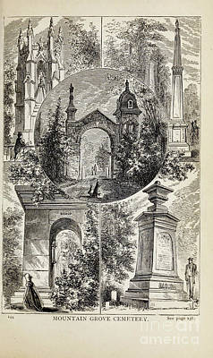 Drawings Royalty Free Images - MOUNTAIN GROVE CEMETERY, i Royalty-Free Image by Historic illustrations
