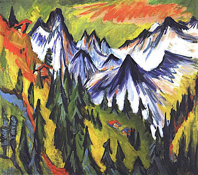 Truck Art - Mountain Top by Ernst Ludwig Kirchner