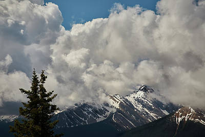 Pasta Al Dente Royalty Free Images - Mountains in Banff Royalty-Free Image by Jon Glaser