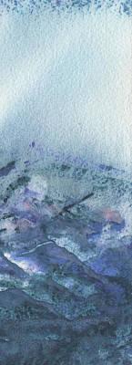 Painting Royalty Free Images - Mountains Terrain Part IIl Royalty-Free Image by Irina Sztukowski