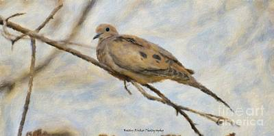 Animals Paintings - Mourning Dove by Kathleen Rinker