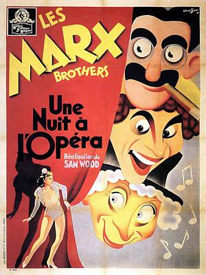 Royalty-Free and Rights-Managed Images - Movie poster A Night at the Opera, Marx Brothers, 1935 by Stars on Art