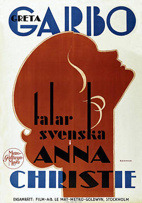 Royalty-Free and Rights-Managed Images - Movie poster Anna Christie, with Greta Garbo, 1930 by Stars on Art