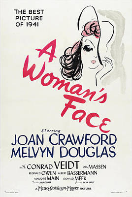 Bringing The Outdoors In - Movie poster for A Womans Face, with Joan Crawford, 1941 by Stars on Art