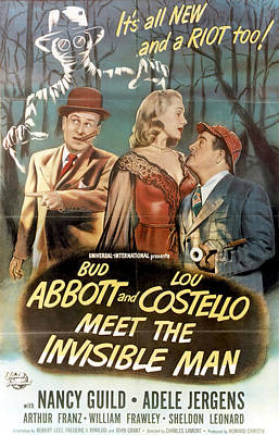 Royalty-Free and Rights-Managed Images - Movie poster for Abbott and Costello Meet the Invisible Man, 1951 by Stars on Art