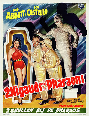 Personalized Name License Plates - Movie poster for Abbott and Costello Meet the Mummy, 1955 by Stars on Art