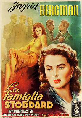 Personalized Name License Plates - Movie poster for Adam Had Four Sons, with Ingrid Bergman, 1941 by Stars on Art