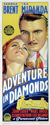 Kitchen Mark Rogan - Movie poster for Adventure in Diamonds, 1940 by Stars on Art