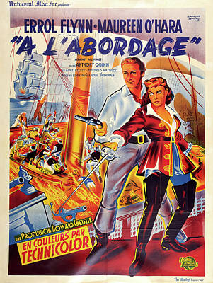 Pasta Al Dente Royalty Free Images - Movie poster for Against All Flags, with Errol Flynn, 1952 Royalty-Free Image by Stars on Art
