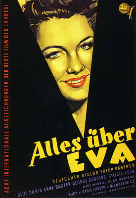 Mixed Media Royalty Free Images - Movie poster for All About Eve, with Bette Davis, 1950 Royalty-Free Image by Stars on Art