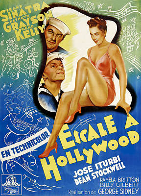 Pasta Al Dente Royalty Free Images - Movie poster for Anchors Aweigh, with Frank Sinatra and Gene Kelly, 1945 Royalty-Free Image by Stars on Art