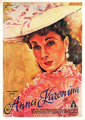Royalty-Free and Rights-Managed Images - Movie poster for Anna Karenina, with Vivien Leigh, 1948 by Stars on Art