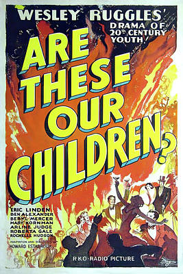 Personalized Name License Plates - Movie poster for Are These Our Children?, 1931 by Stars on Art