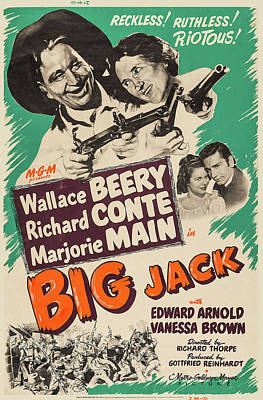 Pasta Al Dente Royalty Free Images - Movie poster for Big Jack with Wallace Beery, 1949 Royalty-Free Image by Stars on Art