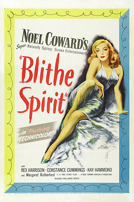 Pasta Al Dente Royalty Free Images - Movie poster for Blithe Spirit, 1945 Royalty-Free Image by Stars on Art