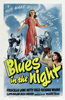 Personalized Name License Plates - Movie poster for Blue in the Night, 1941 by Stars on Art