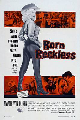 Kitchen Mark Rogan - Movie poster for Born Reckless, with Mamie Van Doren, 1958 by Stars on Art