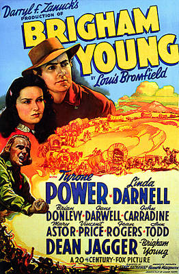 Kitchen Mark Rogan - Movie poster for Brigham Young, with Tyrone Power and Linda Darnell, 1940 by Stars on Art