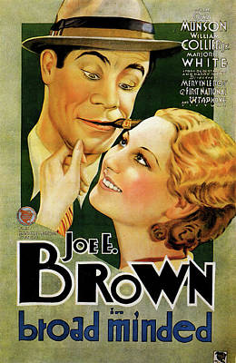 Bringing The Outdoors In - Movie poster for Broad Minded, with Joe E. Brown, 1931 by Stars on Art