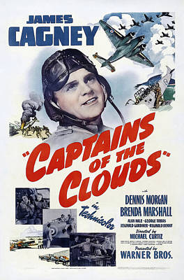 Bringing The Outdoors In - Movie poster for Captains of the Clouds with James Cagney, 1942 by Stars on Art