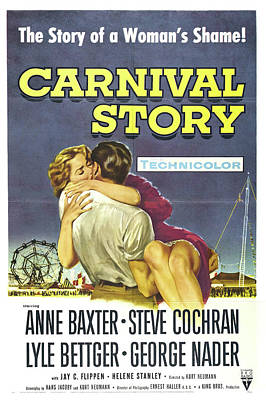 Bringing The Outdoors In - Movie poster for Carnival Story, 1954 by Stars on Art