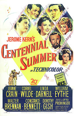 Mixed Media Royalty Free Images - Movie poster for Centennial Summer, 1946 Royalty-Free Image by Stars on Art