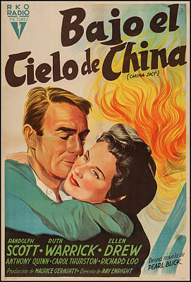 Pasta Al Dente Royalty Free Images - Movie poster for China Sky, with Randolph Scott, 1945 Royalty-Free Image by Stars on Art