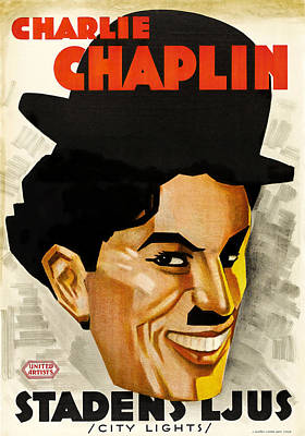 Bringing The Outdoors In - Movie poster for City Lights, with Charlie Chaplin, 1931 by Stars on Art