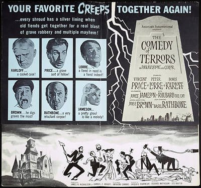 Bringing The Outdoors In - Movie poster for Comedy of Terrors, 1964 by Stars on Art