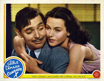 Bringing The Outdoors In - Movie poster for Comrade X, with Clark Gable and Hedy Lamarr, 1940 by Stars on Art