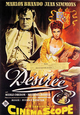 Mixed Media Royalty Free Images - Desiree 2, with Marlon Brando and Jean Simmons, 1954 Royalty-Free Image by Stars on Art