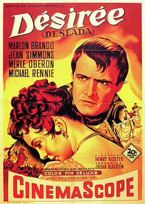 Bringing The Outdoors In - Movie poster for Desiree, with Marlon Brando, 1954 by Stars on Art