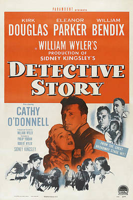Open Impressionism California Desert Royalty Free Images - Movie poster for Detective Story, with Kirk Douglas, 1951 Royalty-Free Image by Stars on Art
