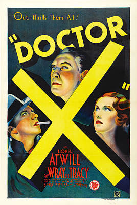 Bringing The Outdoors In - Movie poster for Doctor X, 1932 by Stars on Art